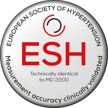 Recognised by the European Society of Hypertension. Technically identical to MD 2200