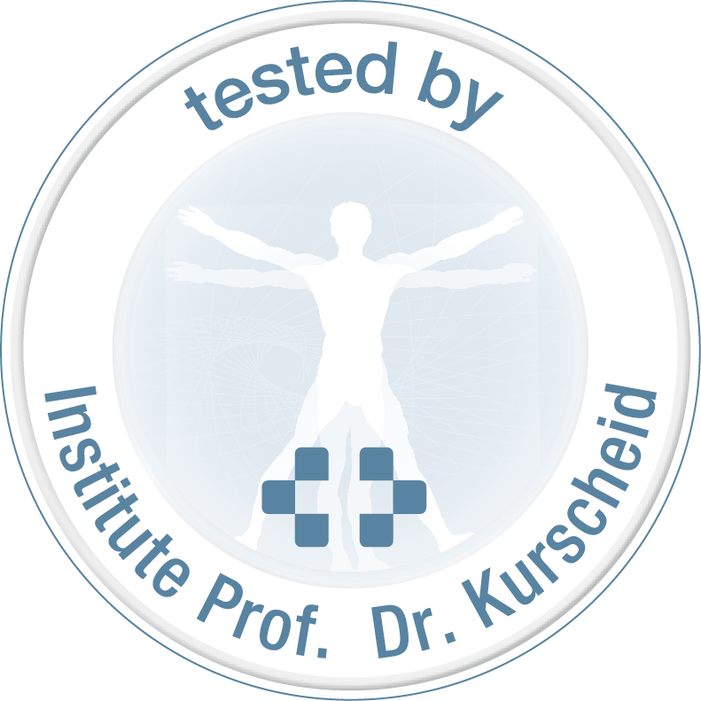 Tested by Prof. Dr. Kurscheid, tested at the Prof. Dr. Kurscheid Institute