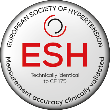 Recognised by the European Society of Hypertension. Technically identical to CF 175