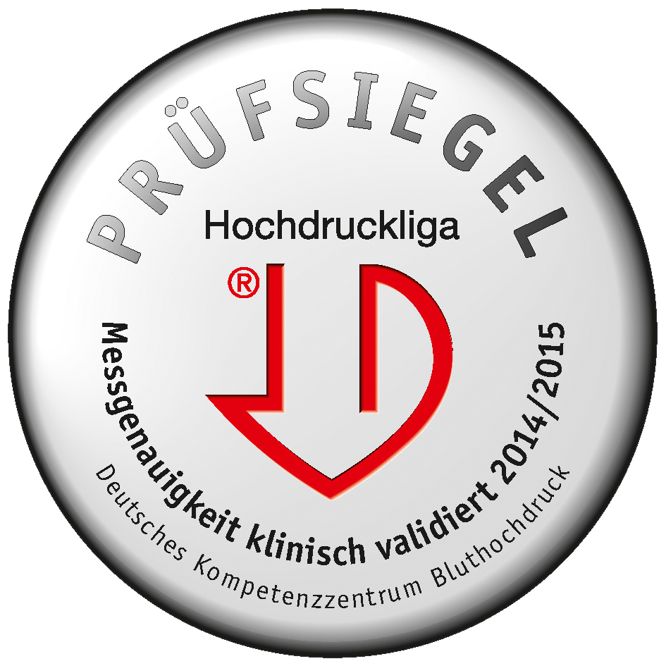 The blood pressure monitor has been acclaimed by the Deutsche Hochdruckliga (German Hypertension Society)