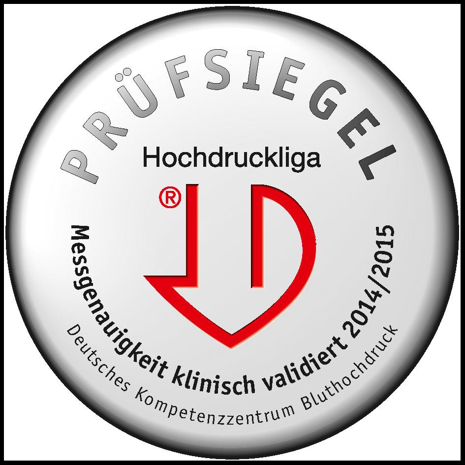 Das Blutdruckmessgerät wurde ausgezeichnet von der Deutschen Hochdruckliga