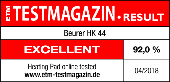 Test result: 92% very good for the HK 44, 04/2018