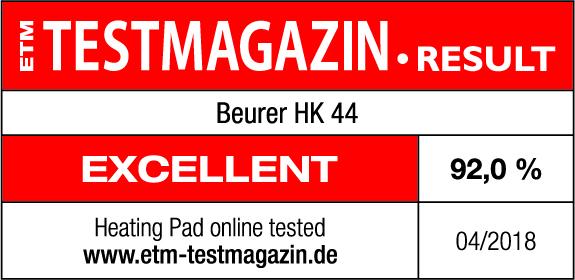 Результаты тестов: модель HK 44 в апреле 2018 г. получила 92% оценок «Очень хорошо»
