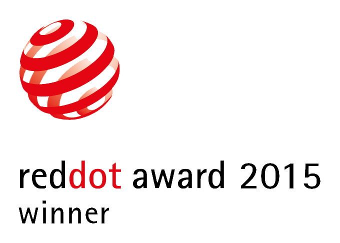 Red Dot Award: Product Design 2015. The product was awarded the coveted RED DOT design prize 2015