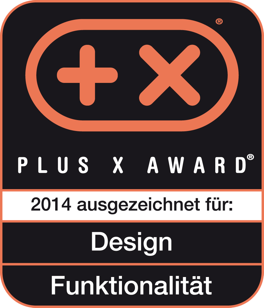Received the Plus X Award for design, functionality