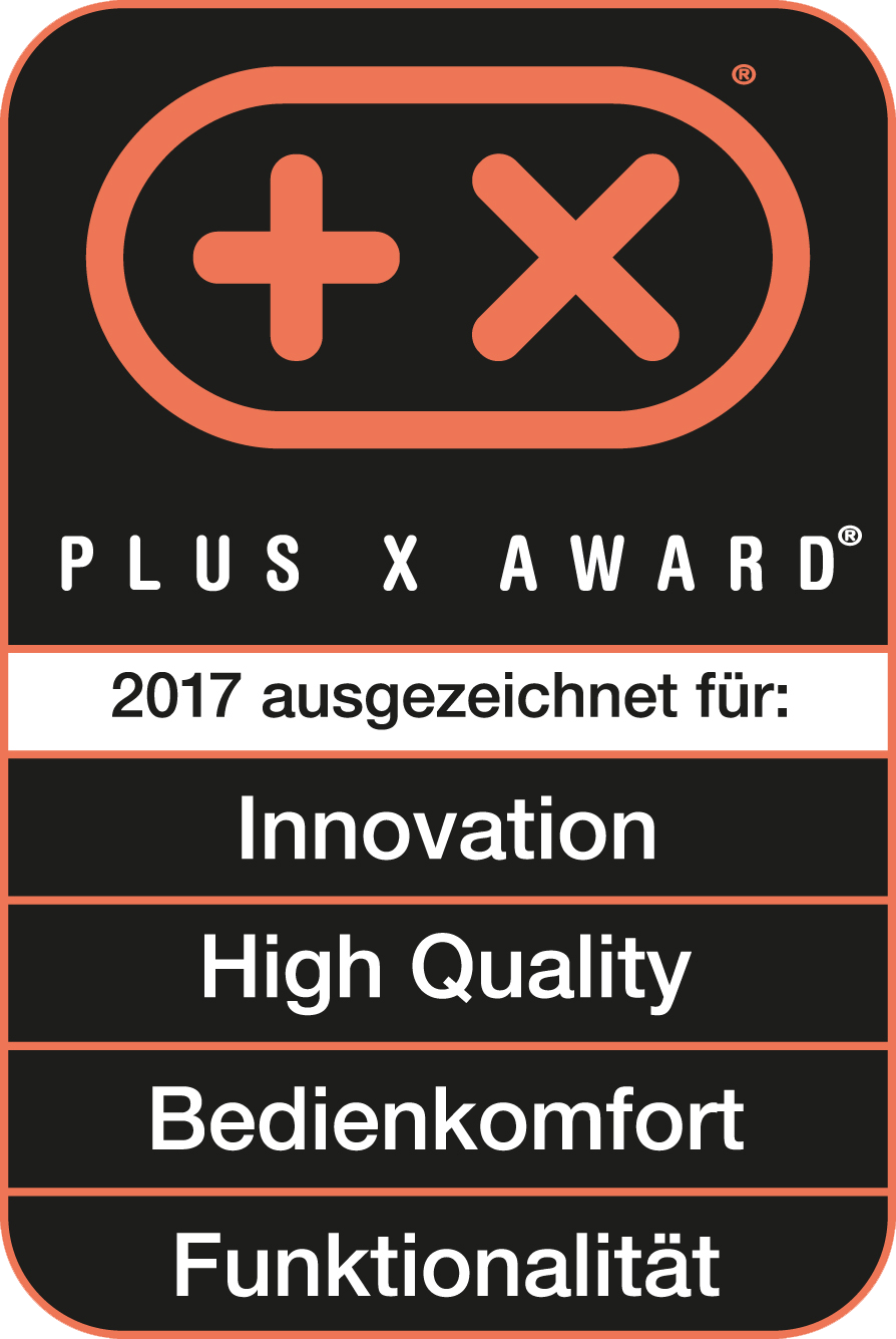 Received the Plus X Award for innovation, high quality, ease of use, functionality