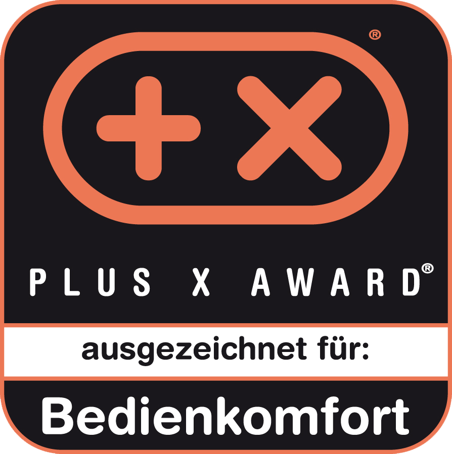 Received the Plus X Award for ease of use