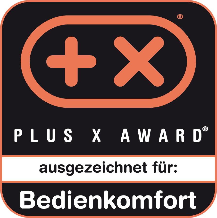 Ausgezeichnet mit dem Plus X Award für Bedienkomfort