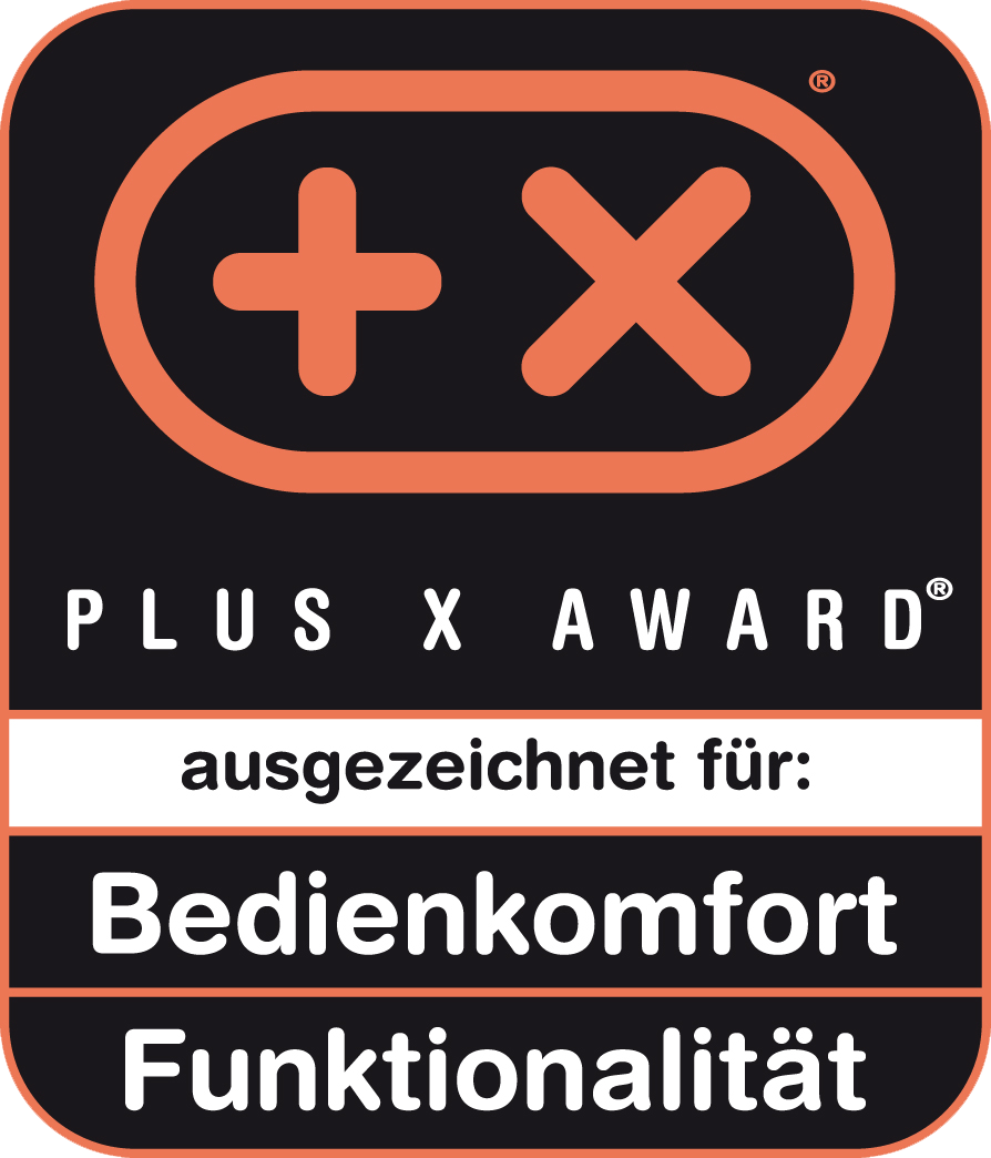 Received the Plus X Award for ease of use, functionality