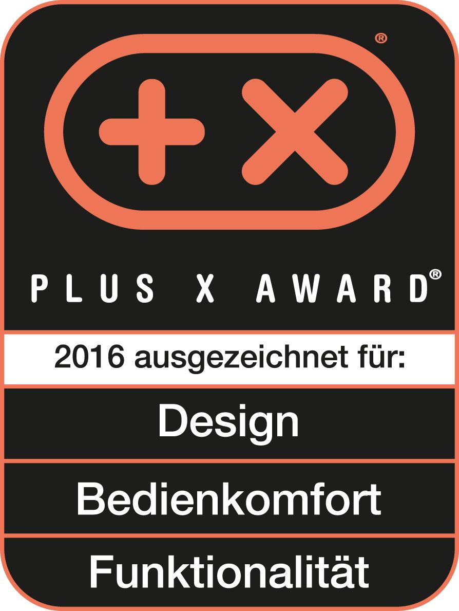 Присуждена награда Plus X Award за дизайн, удобство применения и функциональность