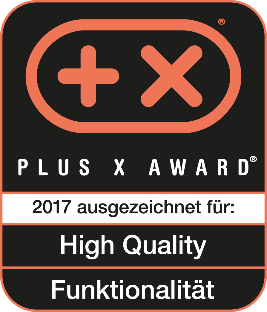 Received the Plus X Award for high quality, functionality