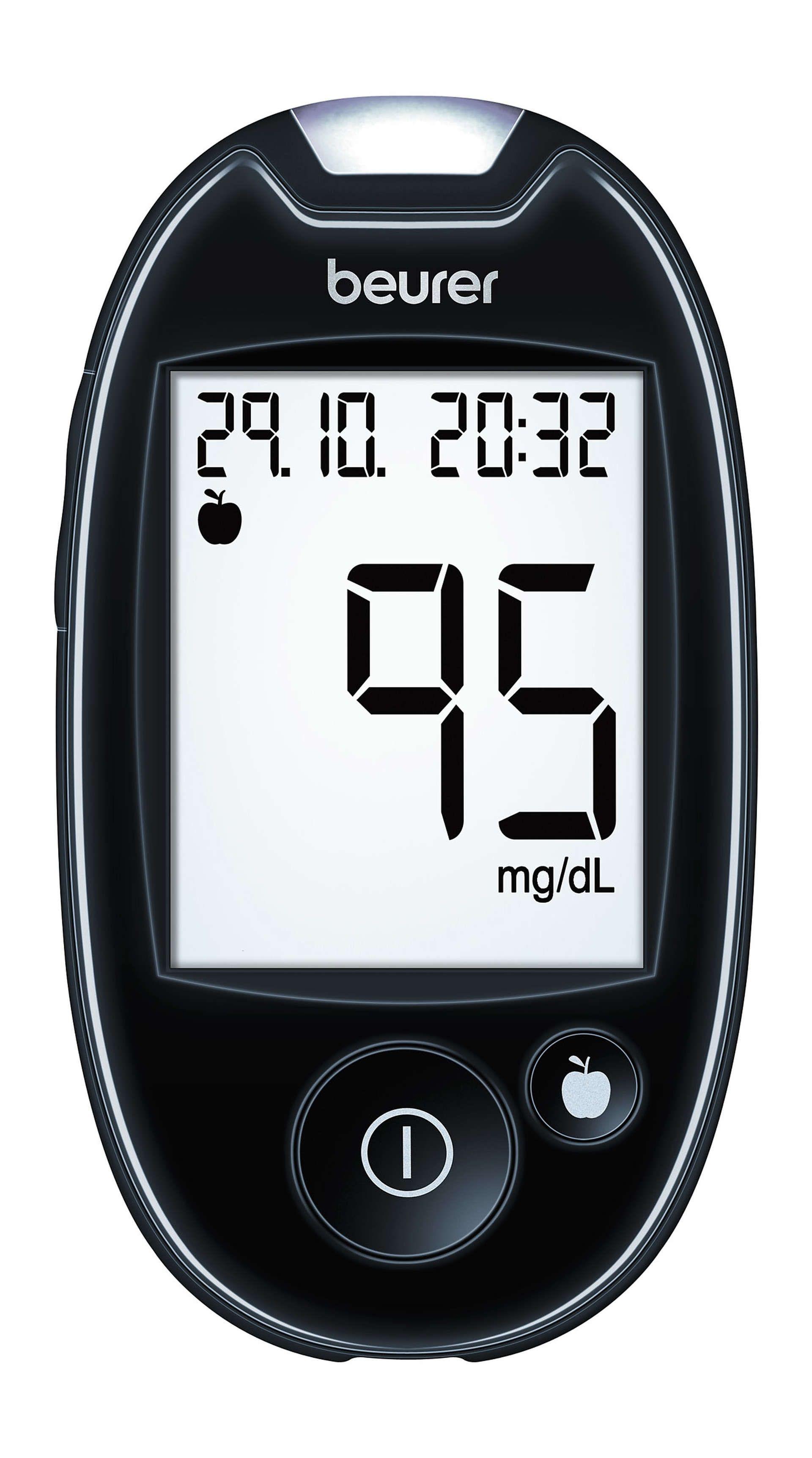 GL 44 mg/dL - blood glucose monitor   beurer