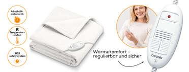 Beurer Wärmezudecke HD 75 Cosy White Produktbild