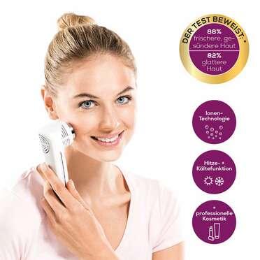 <p>Beurer Anti-Aging-Gesichtspflege FC 90 Pureo Ionic Skin Care Anwendungsbild</p>