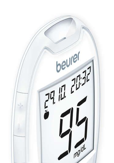GL 44 mg/dL - blood glucose monitor in white | beurer