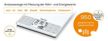 Beurer Nährwert-Analysewaage - DS 61 Produktbild