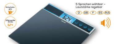 Beurer Glaswaage GS 39 Produktbild