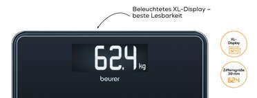 Glaswaage GS 400 SignatureLine Black Produktbild