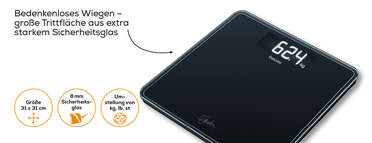 Glaswaage GS 400 SignatureLine White Produktbild