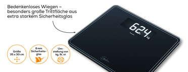 Beurer Glaswaage GS 410 SignatureLine Black Produktbild