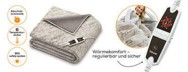 Beurer XXL Wärmezudecke HD 150 Nordic Produktbild