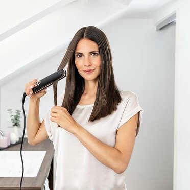 Выпрямитель для волос Beurer HS100 Пример использования (фото)