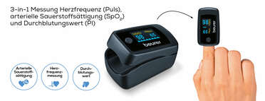 Beurer Pulsoximeter PO 45 Produktbild
