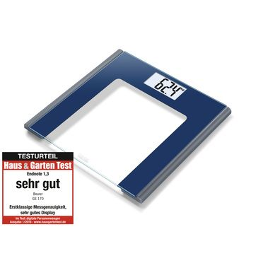Glass bathroom scales